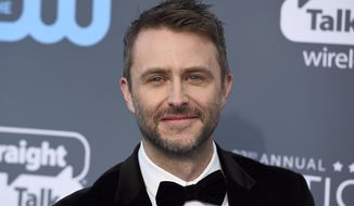 """FILE - In this Jan. 11, 2018 file photo, Chris Hardwick arrives at the 23rd annual Critics' Choice Awards at the Barker Hangar in Santa Monica, Calif. Hardwick's career is getting back on track after a review of sexual assault allegations made by a former girlfriend. NBC said that Hardwick will serve as a guest host next Tuesday, Aug. 7, 2018, on """"America's Got Talent"""" and will return as host for season three of """"The Wall"""" game show. (Photo by Jordan Strauss/Invision/AP, File)"""