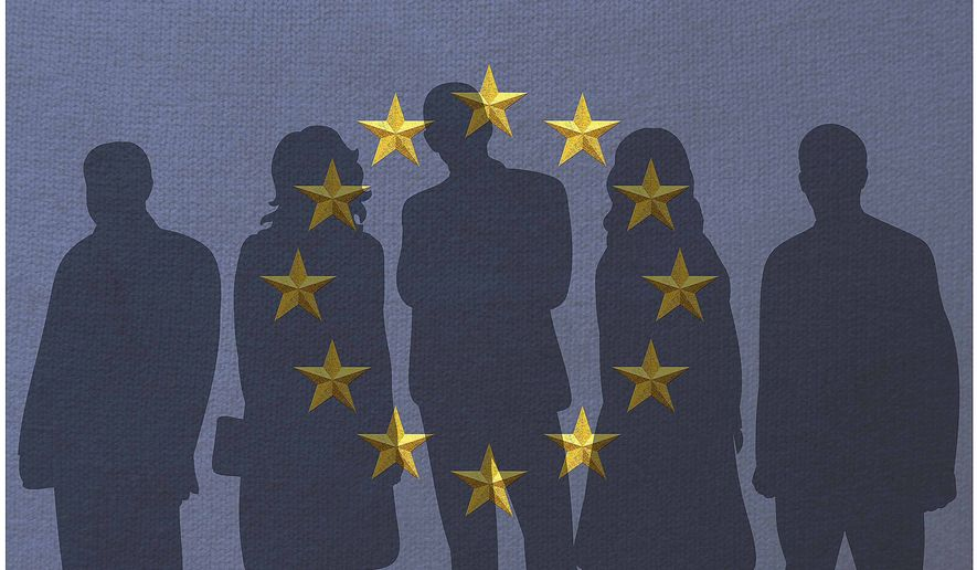 Illustration on European leadership by Greg Groesch/The Washington Times