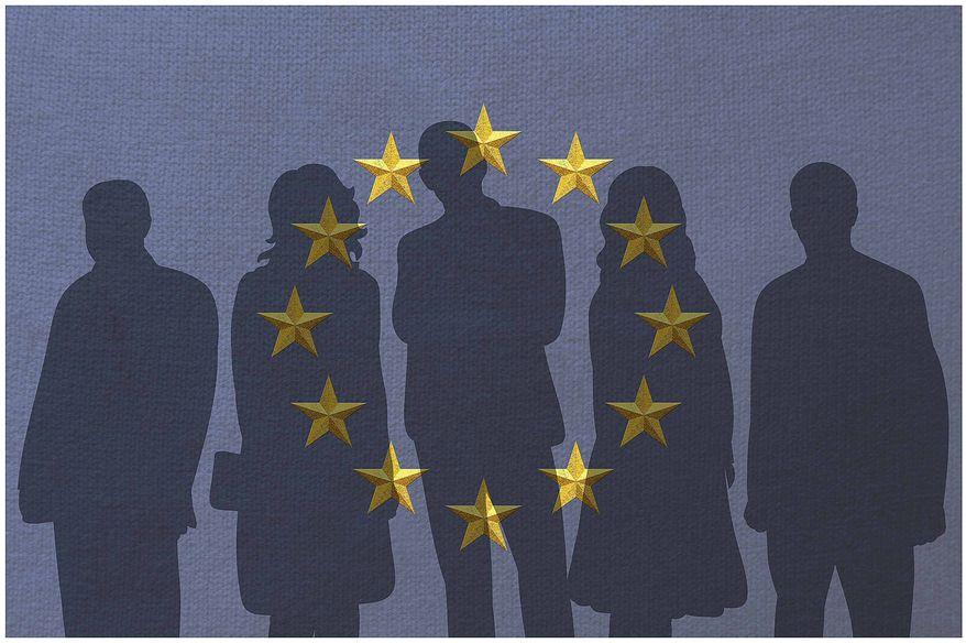Illustration on European leadership by Greg Groesch/The Washington Times