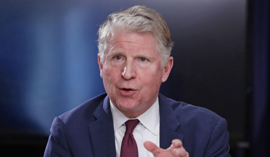 In this May 10, 2018, file photo, Manhattan District Attorney Cyrus R. Vance, Jr., gestures while responding to a question during a news conference in New York. (AP Photo/Frank Franklin II, File)