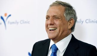 FILE - In this March 9, 2015 file photo, honoree Les Moonves, president and CEO of CBS Corporation, arrives at the 2015 Silver Circle Gala at the Beverly Wilshire Hotel in Beverly Hills, Calif.  CBS will report second quarter earnings on Thursday, July 2, 2018,  as turmoil swirls around the media company. It faces an investigation of its CEO and is in the middle of a lawsuit against its parent company as the all-important fall TV season approaches.  (Photo by Chris Pizzello/Invision/AP, File)