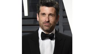 FILE - In this Feb. 26, 2017 file photo, Patrick Dempsey appears at the Vanity Fair Oscar Party in Beverly Hills, Calif. Dempsey says someone is impersonating him online and asking his fans to give money to either him or his Maine-based nonprofit. Dempsey tweeted this on his verified account Monday, July 30, 2018. Nancy Audet, spokeswoman for the Dempsey Centers in Lewiston and Portland, tells the Sun Journal that Dempsey is not asking anyone for money. (Photo by Evan Agostini/Invision/AP, File)