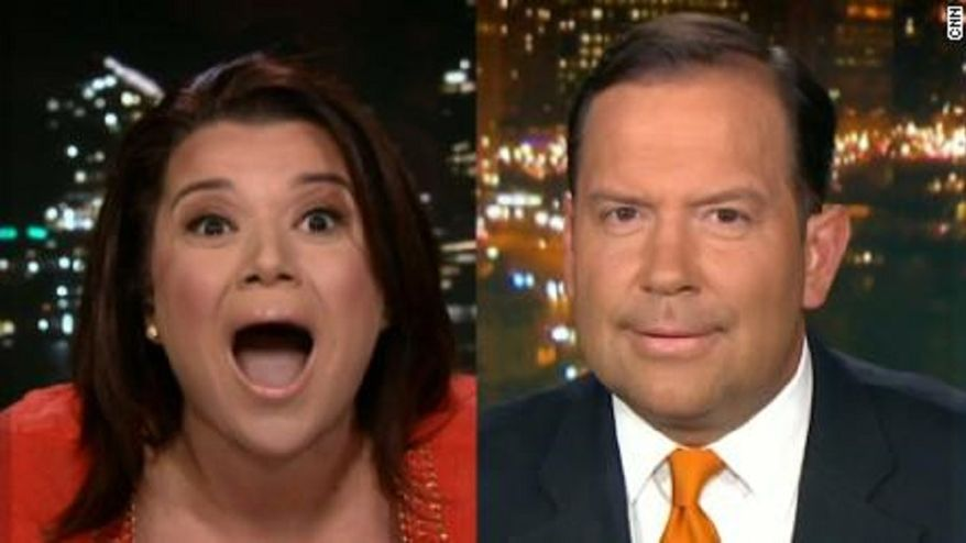 Ana Navarro shows her calm, rational and thoughtful style of political punditry on CNN. (Source: CNN screen grab)
