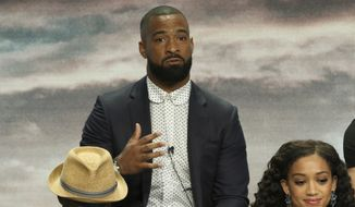 """Professional football player Spencer Paysinger participates in the The CW Network """"All American"""" panel at the 2018 Television Critics Association Summer Press Tour at The Beverly Hilton on Monday, Aug. 6, 2018, in Beverly Hills, Calif.. (Photo by Willy Sanjuan/Invision/AP)"""