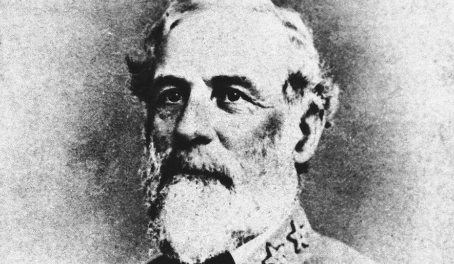 United States stamp carries a picture of General Robert E. Lee of Washington on March 26, 1937, which shows but two stars on his military coat. In this picture, one of Lee?s favorite photographs and autographed by him, three stars can be seen. The picture is owned by Mrs. Annie Chamlers Owen, to whom it was given by General Lee when she was a girl of nine. (AP Photo)