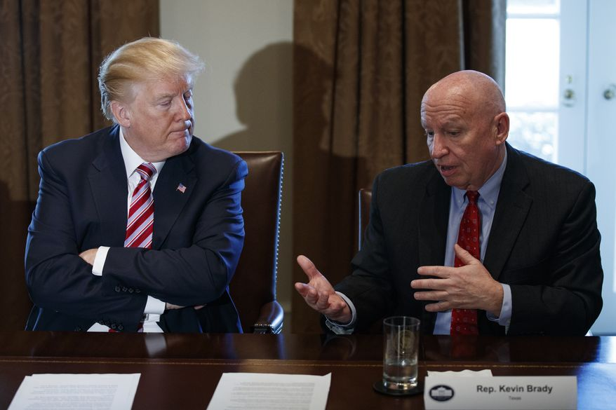 Rep. Kevin Brady, Texas Republican and chairman of the House Ways and Means Committee, introduced the Tax Cuts and Jobs Act and has been a whipping boy for nonprofit advocates.  Mr. Brady has insisted the provision is necessary to level the playing field for nonprofits and for-profits. (Associated Press)