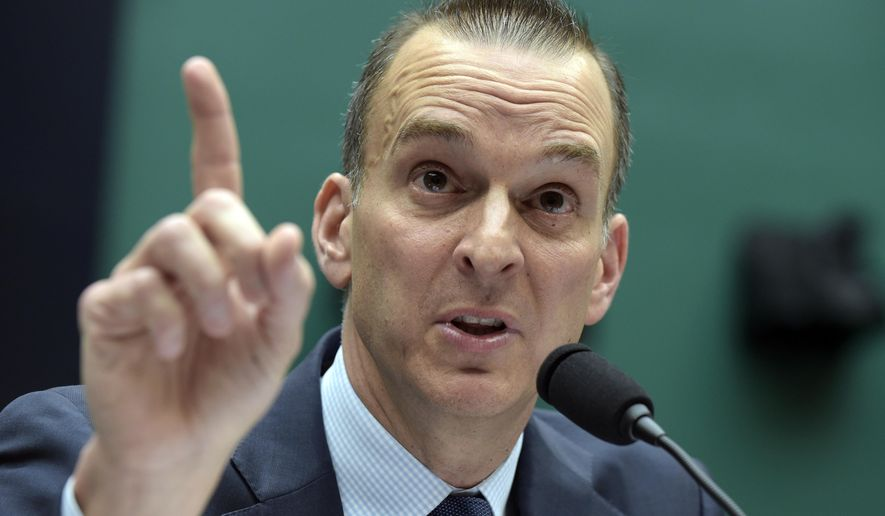 """FILE - In this Feb. 28, 2017, file photo, Travis Tygart, the chief executive officer of the U.S. Anti-Doping Agency, testifies on Capitol Hill in Washington.  Though athletes have often cited the win-at-all-costs culture as a reason they cheat, only a slim number of those surveyed said they would be tempted to take performance-enhancing drugs. Tygart, the CEO of USADA, said he wasn't surprised at the high percentage of athletes who feel they're part of a """"win-at-all-costs"""" culture. (AP Photo/Susan Walsh, File)"""