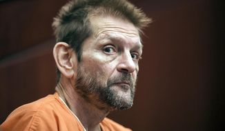 FILE - In this May 15, 2017, file photo, Adam Purinton, charged in the Olathe Austins bar shootings, appears in Division 8 at the Johnson County District Courthouse in Olathe, Kan. The Kansas man who fatally shot an Indian immigrant and wounded another in a suburban Kansas City bar is scheduled to be sentenced Tuesday, Aug. 7, 2018, on federal hate crime charges. Purinton of Olathe agreed to a plea deal in May that recommended he be sentenced to life in prison on each of three hate crime charges, with the sentences to run consecutively. (David Eulitt/The Kansas City Star via AP, Pool, File)