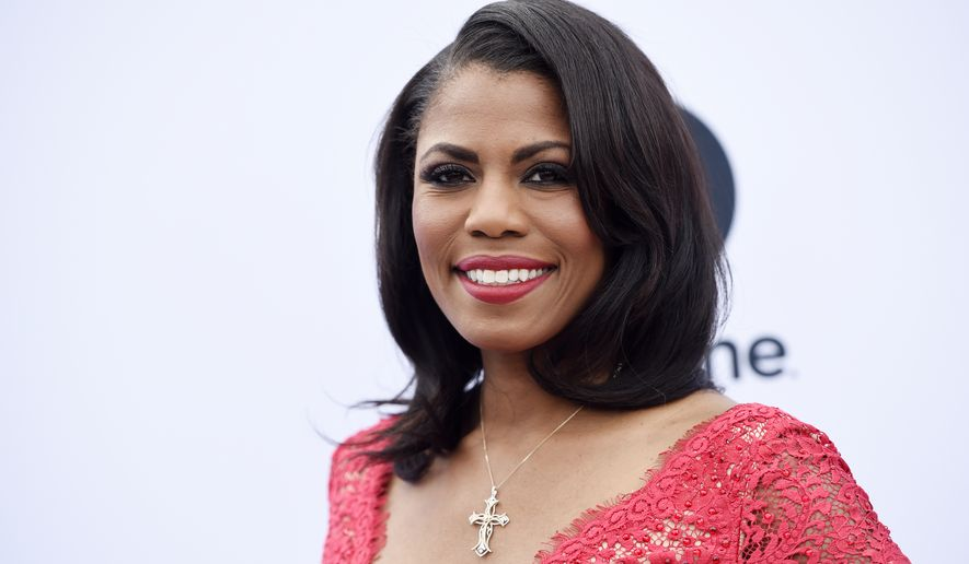 Omarosa Manigault Newman poses at The Hollywood Reporter's 25th Annual Women in Entertainment Breakfast at MILK Studios on Wednesday, Dec. 7, 2016, in Los Angeles. (Photo by Chris Pizzello/Invision/AP) ** FILE **