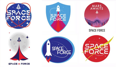 Options for voting on Space Force logo.