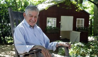 In this Thursday, Aug. 2, 2018 photo former Massachusetts governor and onetime Democratic presidential candidate Michael Dukakis sits for a photograph at his home, in Brookline, Mass. The 84-year-old Dukakis recently co-founded the Boston-based Artificial Intelligence World Society. The organization is pushing to have the United Nations pursue an international agreement to assure AI is used for constructive purposes only. (AP Photo/Steven Senne)