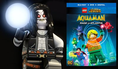 """Intergalactic bounty hunter Lobo battles the Justice League in """"Lego DC Comics Superheroes: Aquaman: Rage of Atlantis,"""" now available on Blu-ray from Warner Bros. Home Entertainment."""