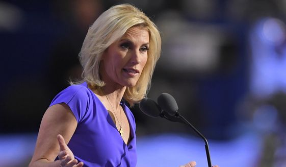 In this Wednesday, July 20, 2016, file photo, conservative political commentator Laura Ingraham speaks during the third day of the Republican National Convention in Cleveland. (AP Photo/Mark J. Terrill, File)