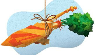 Carrot on a Stick Illustration by Greg Groesch/The Washington Times