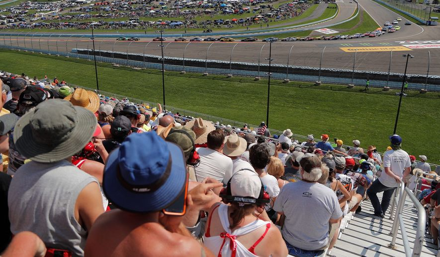 President Trump has a whopping 64 percent approval rating among NASCAR fans according to a new Zogby Analytics survey. (ASSOCIATED PRESS)