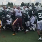 The New York Jets and Washington Redskins engage in a sideline brawl at their joint practice at Bon Secours Washington Redskins Training Center in Richmond, Virginia on Sunday, Aug. 12, 2018. (Video screenshot courtesy of Twitter / @Chrisrye88)