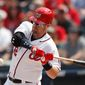 Entering Monday, Washington Nationals catcher Matt Wieters was batting .216 in just 139 at-bats this season with four homers, 12 RBI and an OPS of .643. (Associated PRess)