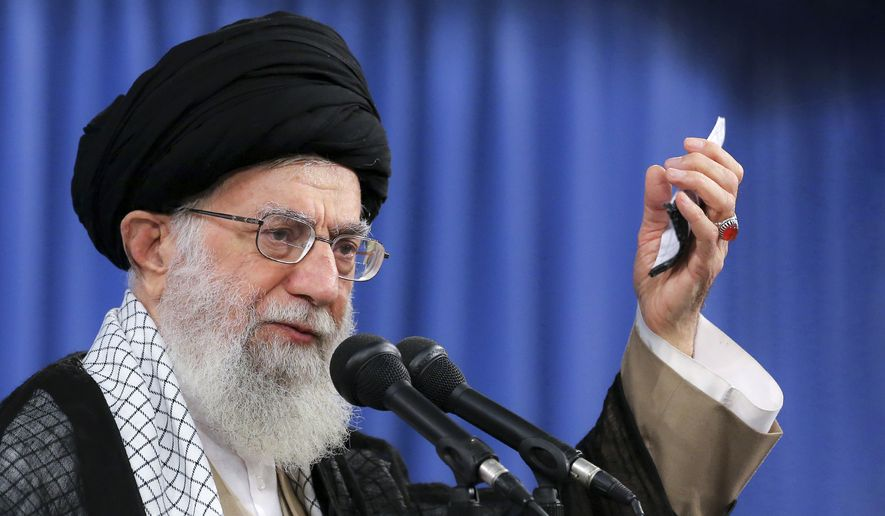 Iran's supreme leader, Ayatollah Ali Khamenei, directly ordered the Sept. 14 attack on Saudi Arabian oil facilities, according to a report by the National Council of Resistance of Iran. (Associated Press/File)