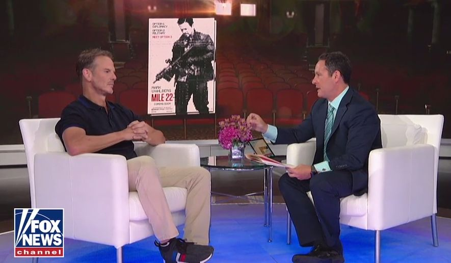 "Director Peter Berg talks about ""Mile 22"" during a ""Fox and Friends"" segment, Aug. 14, 2018. (Image: Fox News screenshot)"
