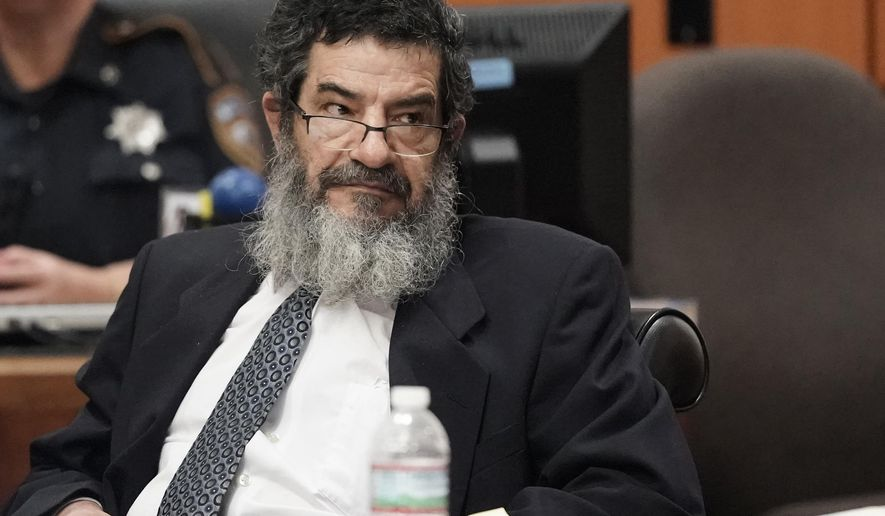 """FILE - In this June 25, 2018, file photo, Jordanian immigrant Ali Mahwood-Awad Irsan sits in court in Houston. Jurors on Tuesday, Aug. 14, 2018, sentenced Irsan to death for the 2012 fatal shootings of his son-in-law and daughter's best friend in what prosecutors described as """"honor killings."""" (Melissa Phillip/Houston Chronicle via AP, File)"""
