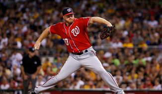 Former Washington Nationals reliever Aaron Barrett has not pitched in the major leagues since August 2015 after undergoing two arm surgeries. (ASSOCIATED PRESS)