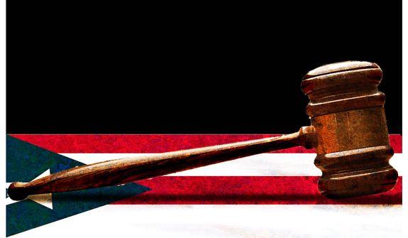 Illustration on judicial decree in Puerto Rico by Alexander Hunter/The Washington Times
