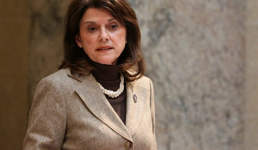 """[Sen. Tammy Baldwin] put America last, supporting the dangerous Iran deal, standing with extremist socialists like Bernie Sanders,"" said Leah Vukmir, a Republican who is seeking to unseat Ms. Baldwin. (Associated Press)"