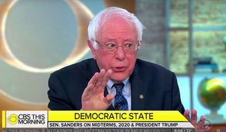 """Vermont Sen. Bernie Sanders discusses socialism with the """"CBS This Morning"""" crew, Aug. 15, 2018. (Image: CBS screenshot)"""