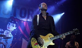 Mike Ness during a Social Distortion concert in Tilburg in 2012. (Wikipedia)