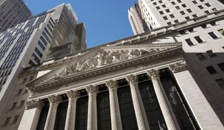 FILE- In this Dec. 21, 2016, file photo, the New York Stock Exchange is shown. The U.S. stock market opens at 9:30 a.m. EDT on Wednesday, Aug 15, 2018. (AP Photo/Mark Lennihan, File)