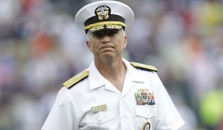 U.S. Navy Rear Admiral Craig S. Faller is shown prior to the Texas Rangers-Detroit Tigers baseball game in Detroit on July 21, 2010. (Associated Press) **FILE**