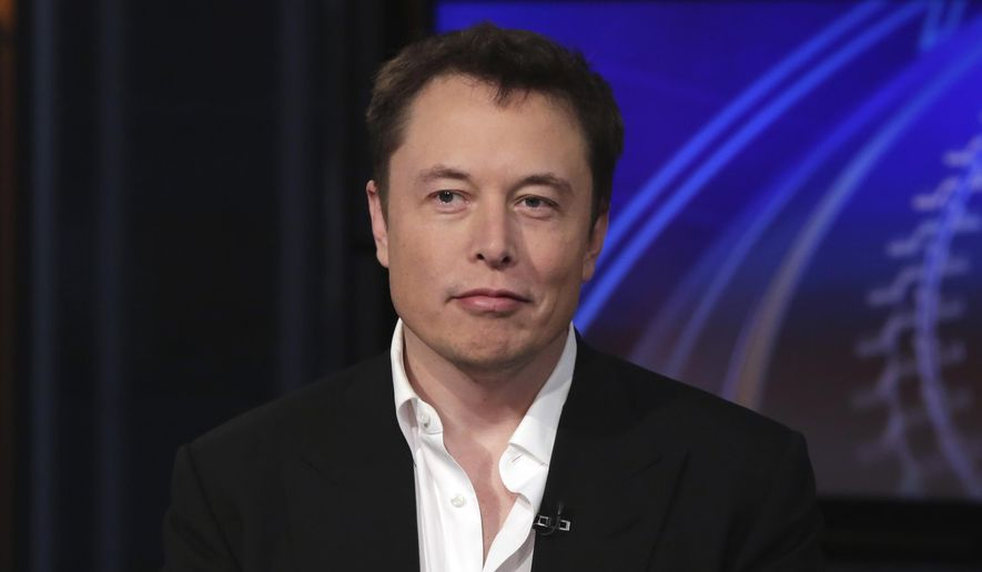In this Wednesday, Sept. 17, 2014, file photo SpaceX billionaire founder and chief executive, and Tesla Motors CEO Elon Musk, is interviewed in New York. (AP Photo/Richard Drew, File)