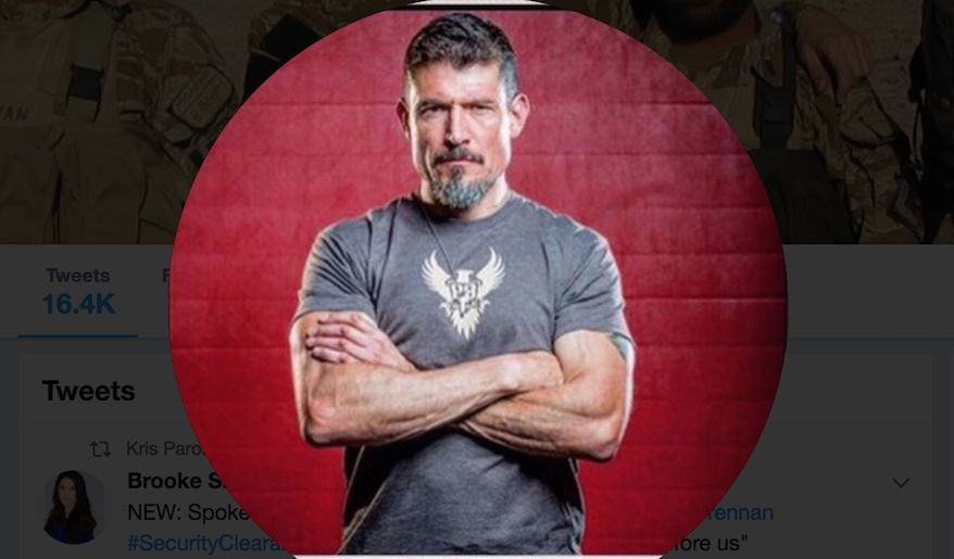 """Benghazi terror attack survivor Kris """"Tanto"""" Paronto told Twitter followers on Aug. 16, 2018, that former CIA director John Brennan revoked his security clearance for trying to tell Americans the truth about what happened in Libya. (Image: Twitter, Kris Paronto, profile picture)"""