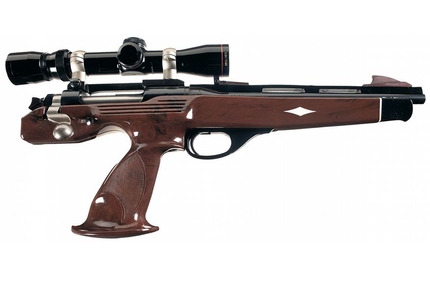 REMINGTON XP-100 is a bolt-action pistol produced by Remington Arms from 1963 to 1998. The XP-100 was one of the first handguns designed for long-range shooting, and introduced the .221 Remington Fireball. The XP-100 was noted for its accuracy and is still competitive today in the sport of handgun varminting.