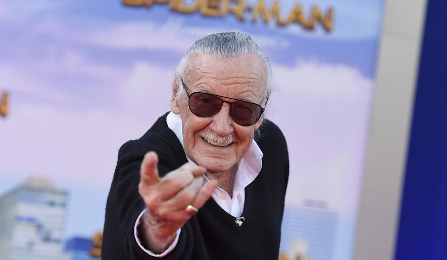 """In this June 28, 2017, file photo, Stan Lee arrives at the Los Angeles premiere of """"Spider-Man: Homecoming"""" at the TCL Chinese Theatre. (Photo by Jordan Strauss/Invision/AP, File)"""