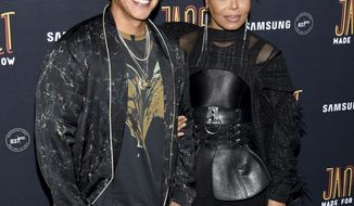 """Singers Daddy Yankee, left, and Janet Jackson attend their """"Made For Now"""" single release party at Samsung on Friday, Aug. 17, 2018, in New York. (Photo by Evan Agostini/Invision/AP)"""