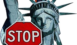 Stop the Demographic Shift Illustration by Greg Groesch/The Washington Times