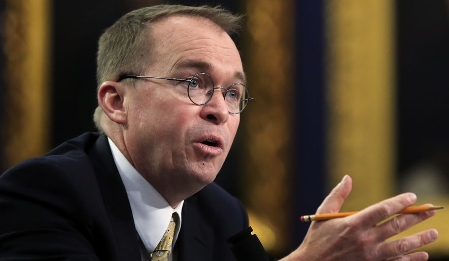 Office of Management and Budget Director Mick Mulvaney testifies before a House Appropriations Committee hearing on Capitol Hill in Washington, Wednesday, April 18, 2018. (AP Photo/Manuel Balce Ceneta)
