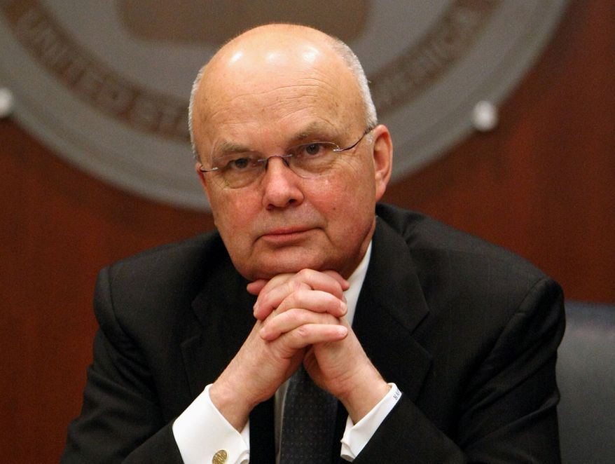 In this Jan. 15, 2009, file photo, then-CIA Director Michael Hayden participates in a news conference at CIA headquarters in Langley, Va. (AP Photo/Luis M. Alvarez, File)