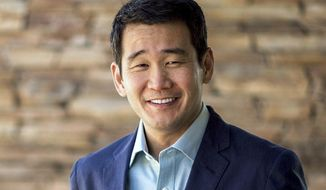 This undated photo provided by David Min shows the then-candidate for the House of Representatives in California in the June 2018 California primary. The FBI has launched investigations after two Southern California Democratic House candidates were targeted by computer hackers. Laptops used by senior staffers for then-candidate Min in Orange County's 45th Congressional District were found infected with malware in March 2018. A law enforcement official tells The Associated Press the FBI also is investigating a cyberattack on Hans Keirstead, who was a candidate in the 48th District. In both cases, it wasn't clear who was responsible. (Min For Congress via AP)