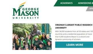Screen capture from George Mason University's website. (www2.georgemason.edu)