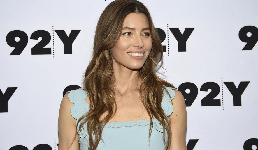 """FILE - In this Aug. 15, 2018 file photo, actress-producer Jessica Biel attends a USA Network's """"The Sinner"""" screening and conversation at 92Y in New York. Biel is nominated for an Emmy for  best lead actress in a limited series for her role on the show. (Photo by Evan Agostini/Invision/AP, File)"""