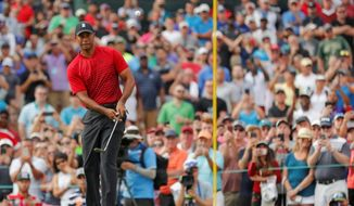 """""""As I've said before, this has been a blessing,"""" Tiger Woods said of his comeback. """"But man, it's been so special to have this opportunity. I'm certainly not taking it for granted, that's for sure."""" (Associated Press)"""