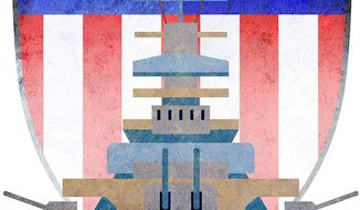 Naval Security Strategy Illustration by Greg Groesch/The Washington Times