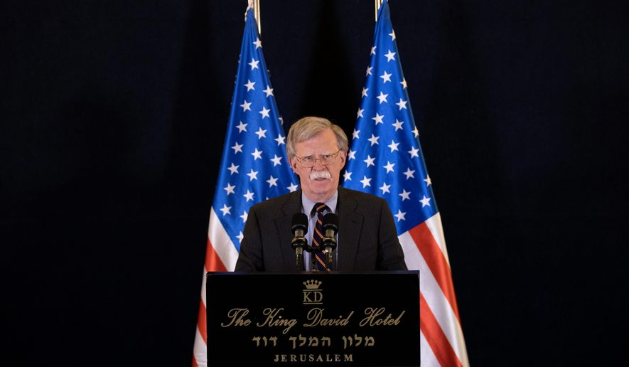 "U.S. national security adviser John Bolton said the Trump administration was not seeking a regime change in Iran, but ""massive change"" in its behavior. (ASSOCIATED PRESS)"
