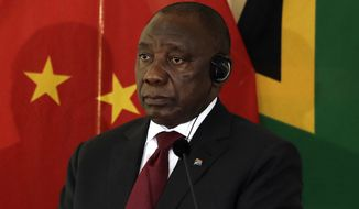 """The landowners must not be afraid to embrace this process,"" South African President Cyril Ramaphosa told critics. ""You say the landowners want certainty. I can tell you the people who are hungry for land also want certainty."" (Associated Press)"