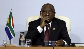"""""""President [Cyril] Ramaphosa has pledged that the land reform process will follow the rule of law and its implementation will not adversely affected economic growth, agricultural production, or food security,"""" the State Department said in a statement. (Associated Press)"""