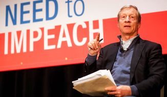 Tom Steyer appears to be leading the outcry for President Trump's impeachment with a new interest group and a broadcast campaign. (Associated Press)
