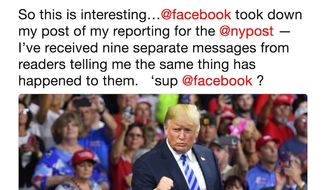 Writer Salena Zito of The New York Post had one of her stories on President Trump flagged for violating its community guidelines on Aug. 22, 2018. (Image: Twitter, Salena Zito)