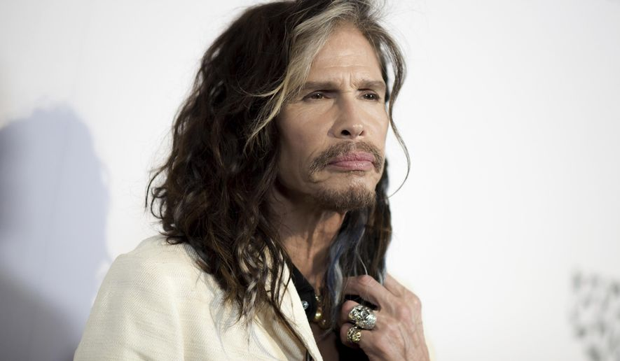 """FILE - In this May 7, 2016, file photo, Steven Tyler attends """"To the Rescue: Saving Animal Lives"""" Gala and Fundraiser held at Paramount Pictures Studio in Los Angeles. Tyler is again demanding that President Donald Trump stop using the band's songs at rallies. Tyler's attorney sent a cease-and-desist letter to the president Wednesday, Aug. 22, 2018, a day after the song """"Livin' on the Edge"""" was heard playing at a Trump rally in West Virginia. (Photo by Richard Shotwell/Invision/AP, File)"""